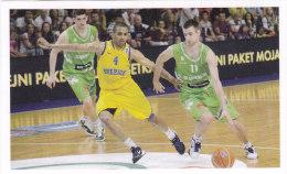 Slovenia Basketball Cards  Stickers - Nr. 203  Slovenia : Sweden - Adesivi