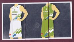 Slovenia Basketball Cards Stickers Nr. 88-90  Jersey National Team Slovenia EUROBasket - Stickers