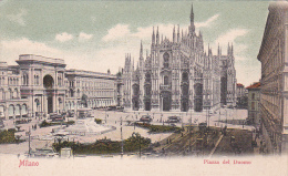 Italy Early Unused Postcard Milano Piazza Del Duomo - Postcards