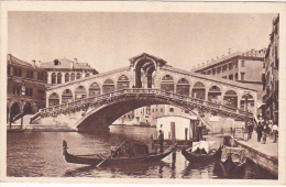 Italy Unused Old Postcard Venice Ponte Di Rialto - Postcards