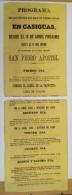 BON104 CUBA ESPAÑA SPAIN LARGE POSTER PROGRAMA FIESTAS DE CASIGUAS 60x21.5cm. CIRCA 1860 - Lottery Tickets