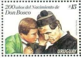 URUGUAY 2015 ** Bicentenario Del Nacimiento De Don Bosco. Salesianos. See Desc. - Christianity
