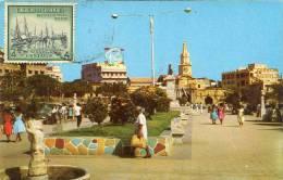 Lote PEP880, Colombia, Postal, Postcard, Tarjeta Maxima, Maximun Card, Cartagena, Torre Del Reloj, Clock Tower, 20262 - Colombia