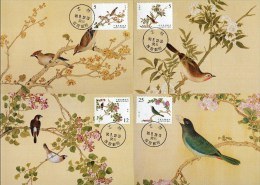 Maxi Cards(A) Taiwan 2001 Ancient Chinese Bird Manual Painting Stamps Fauna Flower