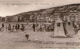 B03 / DEPT 62 CPA BOULOGNE SUR MER LA PLAGE A MAREE BASSE ANIMEE  NEUVE VOIR DOS - Boulogne Sur Mer