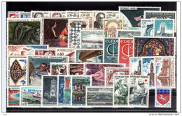 FRANCE - 1966 - Année Complète - Timbres N° 1468 à 1510 - Neufs ** - France