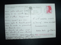 CP TP LIBERTE DE GANDON 2,00 OBL.MEC. VARIETE 8-8-1983 PALAVAS LES FLOTS (34 HERAULT) - 1982-90 Liberté De Gandon