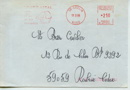EMA Animaux,mammifère,eléphant,souléve Barre De Metal,Longometal,59 Seclin,Nord,lettre Obliterée 11.3.1985 Seclin - Elefanten