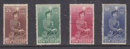 New Zealand 1954, ElizabethII, 2/6, 3/=, 5/=, 10/= Used - Gebruikt