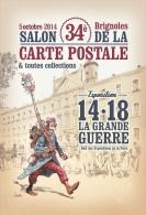 """ILLUSTRATEUR CROSA  34 ÈME SALON DE BRIGNOLES """"  LA GRANDE GUERRE 14 - 18 """" - Collector Fairs & Bourses"""