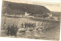 ANGERS - Lancement D ' Un Pont De Bateaux Sur Le Rhône Par Le 6eme Génie D ' Angers    101 - Angers