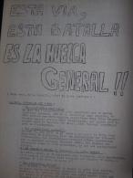 Tract Du Collectif Pour Une Union Des Travailleurs Communistes Libertaires : Esta Via, Esta Batalla Es La Huelga General - Non Classificati