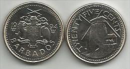 Barbados 25 Cents 1994. UNC - Barbades