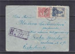 Pologne - Lettre Recommandée De 1926 - Oblitération Gwozdziec - Expédié Vers La Tchècoslovaquie - Smichov - 1919-1939 Republic