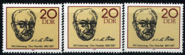 A10-02-1) DDR - 3x Michel 2774 - ** Postfrisch (A) - Otto Nuschke - [6] République Démocratique