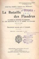 BATAILLE DES FLANDRES JOURNAL MARCHE IVe ARMEE ALLEMANDE GUERRE 1918 DOCUMENTS SECRETS