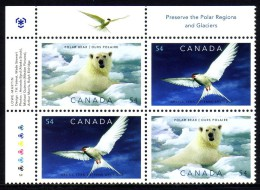 CANADA 2007-2009 IPY Preserve The Polar Regions And Glaciers, Block Of 4v** - Preservare Le Regioni Polari E Ghiacciai