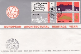 Malta FDC 1975 European Architectural Heritage Year (B463) - Malte
