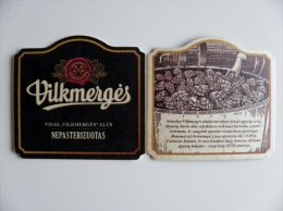 Beer Bier Coaster From Lithuania, Vilkmerges Alus - Sous-bocks