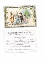 7983 - 50 - SOURDEVAL LA BARRE : Chromo Epicerie Parisienne, P. DUBOIS   ENFANTS, PERROQUETdimension 9.5X14.5 - Autres Communes