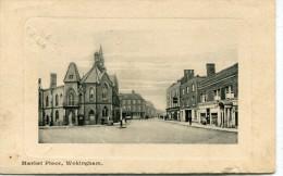 POST CARD ENGLAND MARKET PLACE WOKINGHAM 1911 - Inghilterra