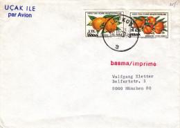 Chypre Turque - Lettre De 1979 - Imprimé - Oblitération Lefkosa - Fruits - Oranges - Mandarines - Cyprus (Turkije)