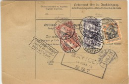 LPP13B - ALLEMAGNE EMPIRE - COLIS POSTAL MARS 1906 - TIMBRE OU ÉTIQUETTE ENLEVÉE AU RECTO - Briefe U. Dokumente