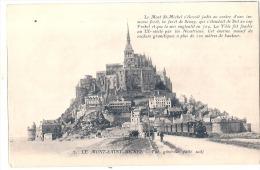 LE MONT SAINT MICHEL  Et Les Trains TTBE Neuve - Le Mont Saint Michel