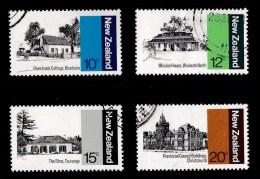 New Zealand 1979 Architecture Set Of 4 Used - - - New Zealand