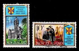 New Zealand 1969 Otago University Centenary Set Of 2 Used - - Used Stamps