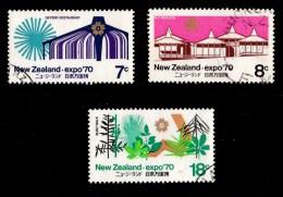 New Zealand 1970 World Fair Expo'70 Set Of 3 Used - - New Zealand