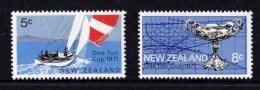 New Zealand 1970 Sailing - One Ton Cup Set Of 2 MNH - New Zealand