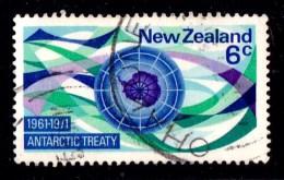New Zealand 1971 Antarctic Treaty 6c Used - - New Zealand