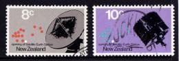 New Zealand 1971 Satellite Earth Station Set Of 2 Used - - New Zealand