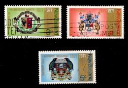 New Zealand 1971 City Centenaries Set Of 3 Used - - New Zealand
