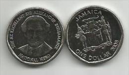 Jamaica 1 Dollar 2008. UNC KM#189 - Jamaica