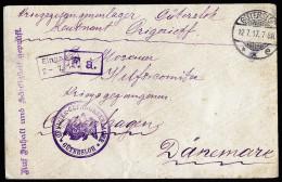 A3302) POW DR Kriegsgefangenenbrief Von Gütersloh 12.7.1917 Nach Copenhagen / Dänemark - Deutschland