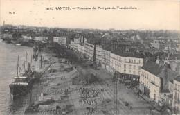 CPA 44 NANTES PANORAMA DU PORT PRIS DU TRANSBORDEUR - Nantes