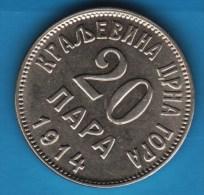 JUGOSLAVIA MONTENEGRO  20 PARA 1914  KM# 19  NICHOLAS I - Jugoslavia