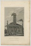 La Pompe à Feu Du Gros-Caillou (Paris 16e). Pompiers. Gravure 1829 W. Price A. Pugin R. Fenner. - Stiche & Gravuren