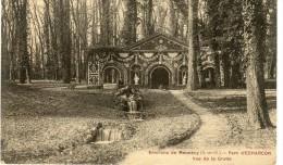 CPA 91  ENVIRONS DE MENNECY PARC D ECHARCON VUE DE LA GROTTE 1915 - Mennecy