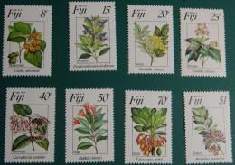 Fiji 1983 1984 Yvertn° 488-91 Et 502-05 *** MNH Cote 12 Euro Fore Fleurs Flowers Bloemen - Fidji (1970-...)
