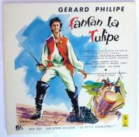 Disque Vinyle 33T 25 Cm FANFAN LA TULIPE Gérard Philipe - ADES ALB 301 1954 ILLUSTRATIONS J PECNARD - Disques & CD