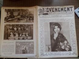 L'EVENEMENT ILLUSTRE 1er JANVIER 1916 Vue De La Bataille De La Champagne Nombreuses Photos Guerre - Kranten