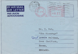 AIR LETTER  HONG KONG VICTORIA  FLAMME AEROGRAMME 1972 JARDINES - Hong Kong (...-1997)