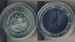 Liberia 10 Dollarmünze 2002 Hologramm Freiheitsstatue - Liberia