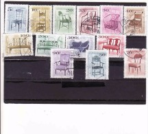 2000-2006,Hongrie - Ungarn-Hungary, ANTIKE MÖBEL - ANTIQUE FURNITURE, Chair, Chaise,Fleisch, - Used Stamps