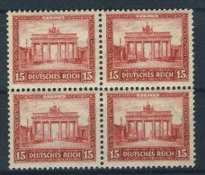 Deutsches Reich Michel No. 451  ** postfrisch Viererblock