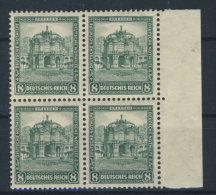 Deutsches Reich Michel No. 459  ** postfrisch Viererblock