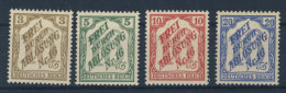 Deutsches Reich Dienst Michel No. 10 - 13  ** postfrisch